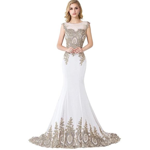 Dresses | Long Embroidered Wedding Dress Mermaid | Poshmark